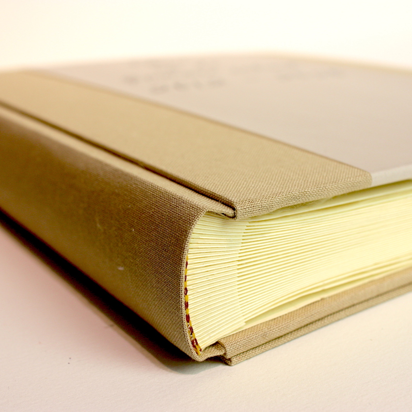 Fotoboek, linnen, vellum, kalkpapier, receptieboek, banderol, handgemaakt,