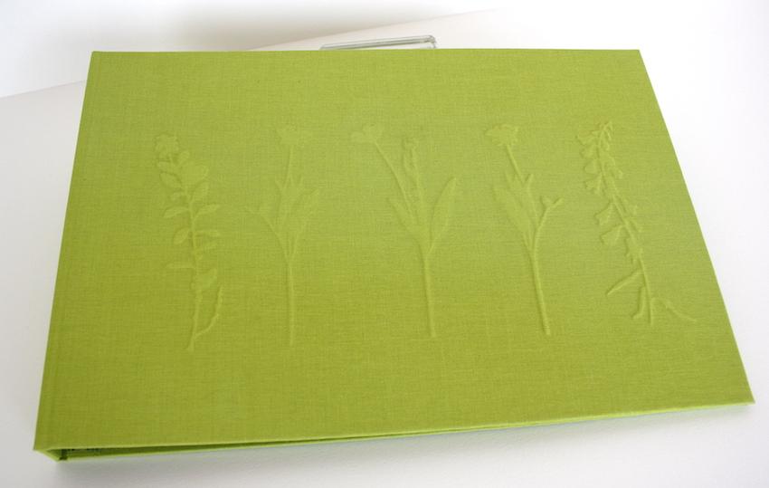 fotoalbum ringband linnen preeg sierpapier handgemaakt op maat