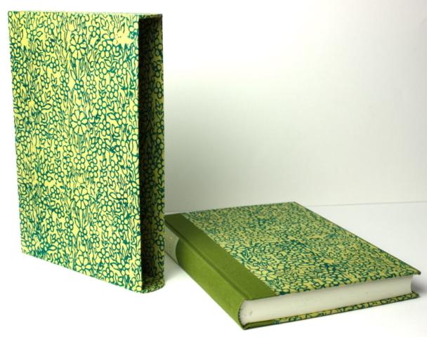 steunzool cassette boek ronde rug linnen papier rugschild hand gemaakt kneep gekneept